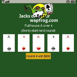 Jacks or Better poker screen capture